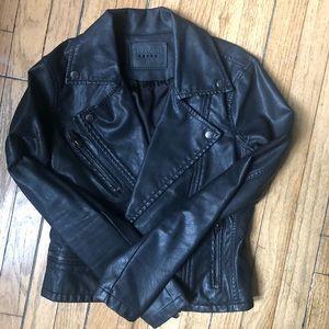 Blank NYC Black Faux Leather Moto Jacket